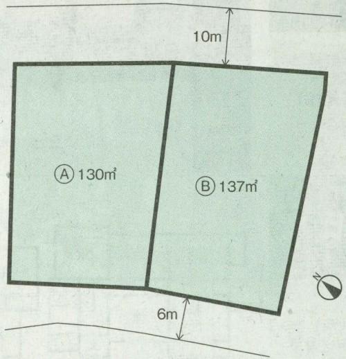 閑静な住宅街  全2区画 A号地 赤坂台1丁
